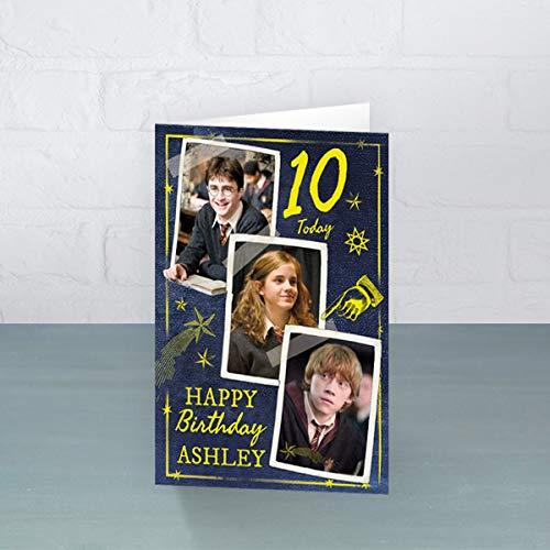 Biglietto di compleanno personalizzato di Harry Potter – Personalizza il tuo nome e l'età