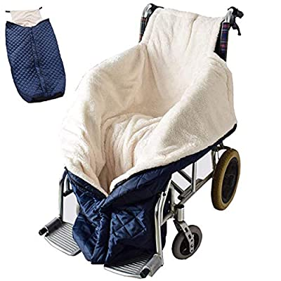 Gitzer Lightweight Wheelchair Blanket with Zipper and Villus, Wheelchair Cover for Adults Wheelchair Cosy Wheelchair Warm Covers Leg and and Lower Body Universal fit for wheelchairs by Gitzer-1218-01