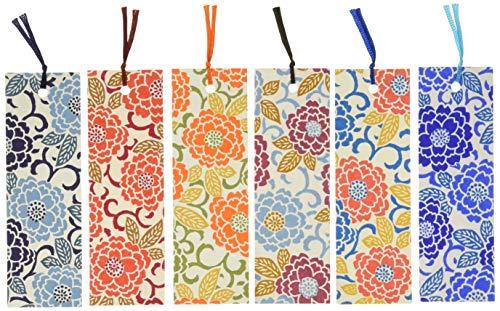 【Amazon.co.jp限定】和紙かわ澄友禅和紙型染めしおりブックマーカー6枚入八重桜