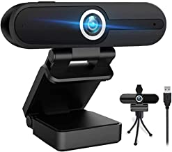 4K Webcam with Microphone, 8MP Laptop PC Desktop Computer Web Camera, USB Webcams for Video Calling Recording Streaming Vi...