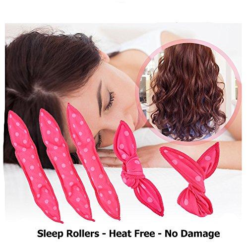 JFFKLS Sleep Hair Curlers 20pcs Best Flexible Foam Sponge Hair Curlers Magic Pillow Soft Rollers Curlers Long Short Hair DIY Styling Hair Rollers Tool