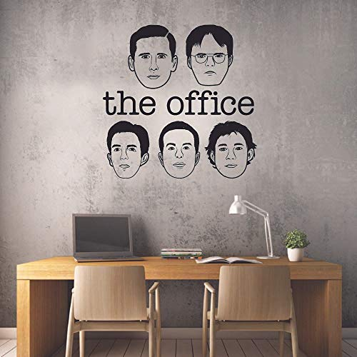 The Office Characters Head Icon TV Show Series Quote Wall Sticker Decor Design for Boys/Girls Bedroom Entertainment Fans Home Art Wanddekoration Vinyl Größe 10 x 10 Zoll