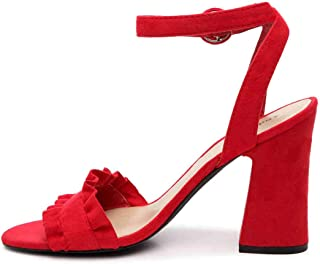 Womens Sandie Open Toe Casual Slingback Sandals, Red, Size 8.5