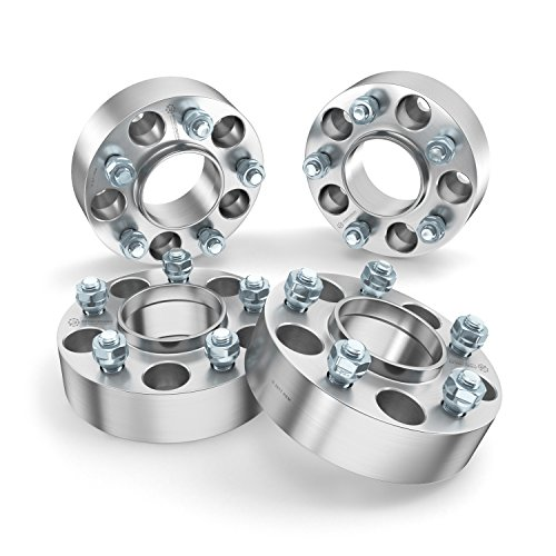 RockTrix 2 inch Hubcentric 5x5 to 5x5 Wheel Spacers (71.5mm Bore, 1/2x20 Studs) Compatible with Jeep 99-10 Grand Cherokee WJ WK, 07-18 Wrangler JK JKU, 06-10 Commander XK - Silver 50mm 5x127 4pcs