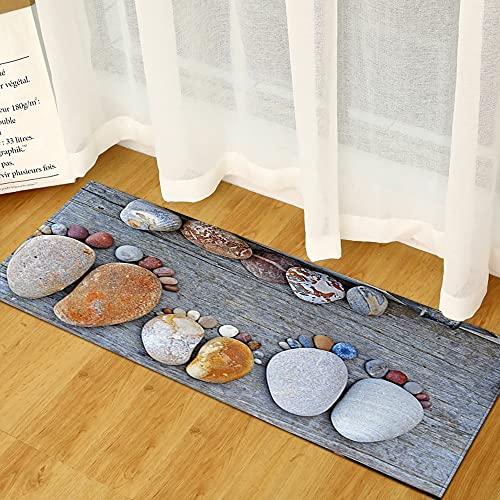 Alfombrilla de cocina para dormitorio, sala de estar, entrada, pasillo, balcón, baño, antideslizante, tamaño A1, 40 x 120 cm
