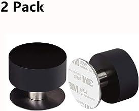 senza trapano con nastri adesivi e paraurti in gomma per smorzamento acustico Fermaporta autoadesivo in acciaio inox 2 pezzi cromato