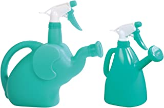 CLICIC 1.8L Cartoon Elephant Sprinkling Watering Can+ 0.9L Watering Can with Sprayer Garden Accessory Sprayers Multifunction Watering Can