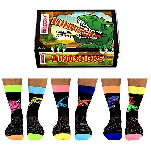 Dino Oddsocks Socken in 39-46 im 6er Set - Dinosaurier Oddsocks Strumpf