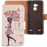 LANKASHI Umbrella Girl Design PU Flip Billetera Funda De Carcasa Cuero...