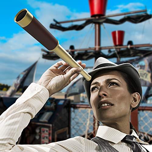 VAKO Pirate Telescope Collapsible Brass Handheld Monocular Spyglass...