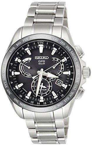 [セイコーウォッチ] 腕時計 アストロン GPSソーラー デュアルタイム SBXB045 メンズ シルバー
