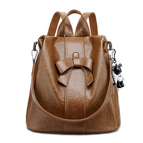 BUKESIYI Women's Backpack Handbags Rucksack Shoulder Bags PU Leather Mini Kawaii Anti-theft CCUK78306 Brown