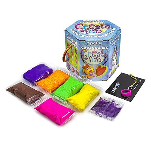 Plastilina modelada 70031 Soft Knete Create Fun colgante niños juguete idea regalo para niños niños mayores de 3 años