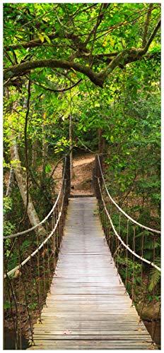 posterdepot ktt0398 Türtapete Türposter Hängebrücke im Urwald, grüner Dschungel-Größe 93 x 205 cm