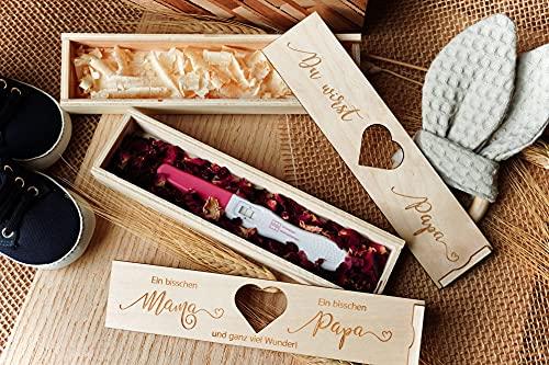Schwangerschaft Überraschungsbox Du wirst Papa viele Designs mit Duftblüten, Zirbenspäne und weitere wertige Einleger für deine emotionale Überraschung