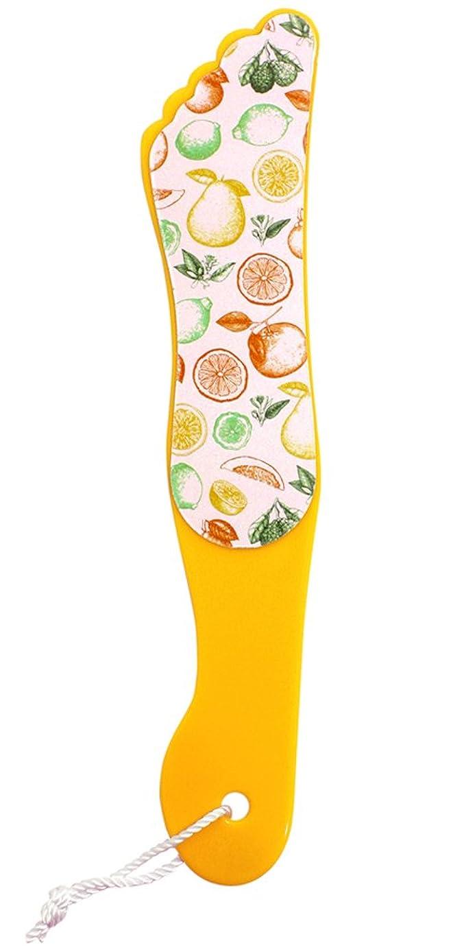 バッジ港免除『FOOT PRINT/フットプリント』カカトケア 足型かかとヤスリ 角質ケア つるつる(ORANGE/オレンジ)