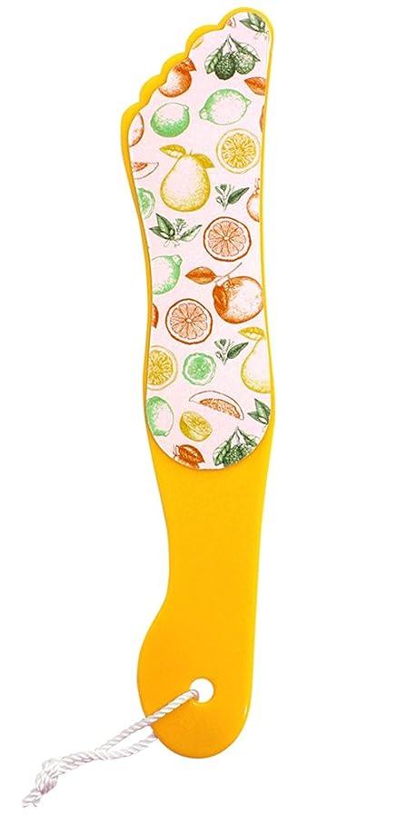 ブリード法律により書く『FOOT PRINT/フットプリント』カカトケア 足型かかとヤスリ 角質ケア つるつる(ORANGE/オレンジ)