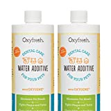 Oxyfresh Premium Pet Dental Care Solution Pet Water Additive: Best Way to Eliminate Bad Dog Breath and Cat Breath - Fights Tartar and Plaque - So Easy, Just Add to Water 2 Pack (16 oz)