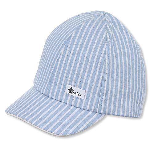 Sterntaler Baby-Jungen Baseball-Cap 1612121 Baseballkappe, blau, 45