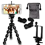 CamRah | Cell Phone Smartphone Tripod and 3 Universal Lens Kit |...