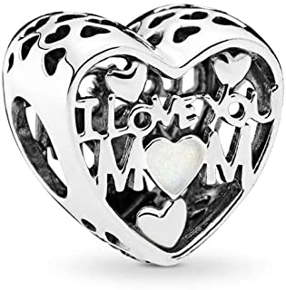 PANDORA Love For Mother Charm, Silver Enamel, Sterling Silver, One Size