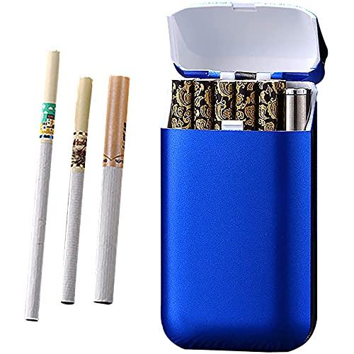 HHYHOME Encendedor Recargable 2 En 1,Estuche para Cigarrillos,con Diseño USB Recargable Y Resistente Al Viento,para 10 Cigarrillos,Unisex,C