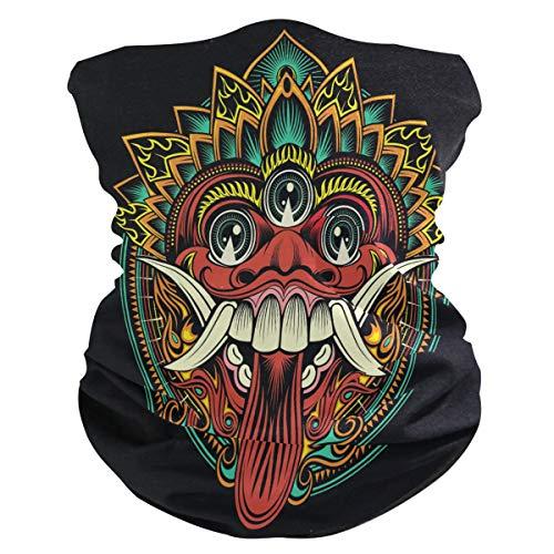 Traditioneel ritueel Balinese masker gezichtsmasker buisvormige doek hoofddoek hoofdband bandana's hoofddeksel halsdoek gezichtssjaal voor mannen vrouwen sport