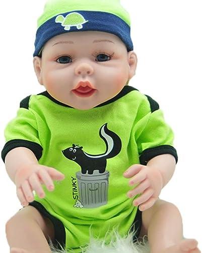 LINAG Babypuppen Reborn Baby Silikon Wiedergeboren Lebensechte Simulation Spielzeug Geschenk Neugeborene Realistische Vinyl Weißh Wirkendes 52cm Doll-26550 Spielkameraden