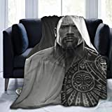 WUKON Super-Soft Dwayne The Rock Johnson Throw Blanket Suitable for Sofa Micro Flannel Fleece Blankets for Adults and Children Bed Blankets 50' x40
