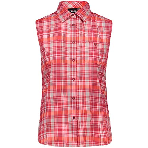 CMP Damen Funktions Bluse Hemd NEU, Rouge/Blanc cassé/Ghiaccio, 44