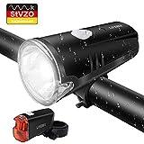 LIFEBEE LED Fahrradlicht, Batterie Fahrradbeleuchtung StVZO Zugelassen Frontlicht und Rücklicht Fahrradlampe Set, 2 Licht-Modi, Regenfest Fahrradlichter für Mountainbike, Batterie Nicht...