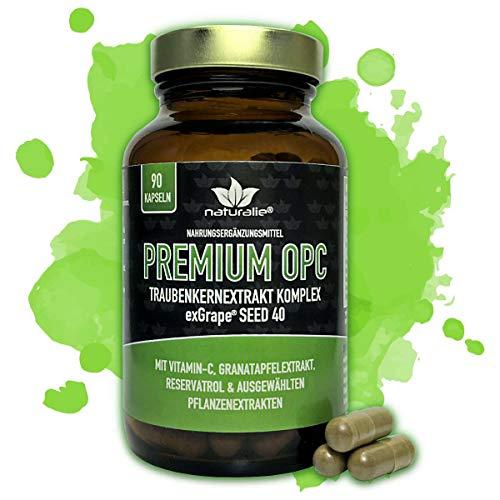 naturalie® - PREMIUM OPC KOMPLEX - französicher Markentraubenkernextrakt plus natürliches Vitamin-C und hochwertige Pflanzenextrakte - im GLAS (ohne BPA-Weichmacher) und ohne unnötige Zusatzstoffe