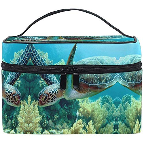 Trousse de maquillage Turtle Sea Travel Cosmetic Bags Organizer Train Case Toiletry Make Up Pouch