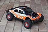 SummitLink Compatible Custom Body Muddy Orange Over White/Black Replacement for 1/10 Scale RC Car or Truck (Truck not Included) SSB-WBR-02