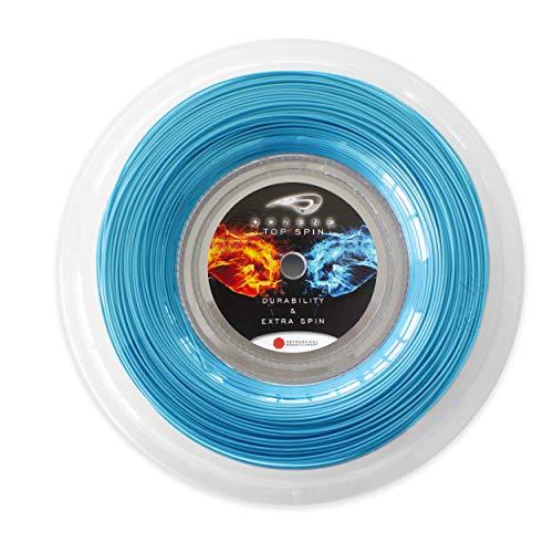 Dozene Cordaje de Tenis. 200 m 125mm. Resistente Calidad. Efecto Extra Control. Volea Saque. Co Poliester Monofilamento Heptagonal. Color Azul