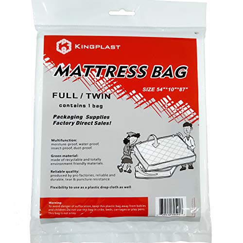 K KINGPLAST Twin/Full Mattress Bag for Moving, 54' x 87'...