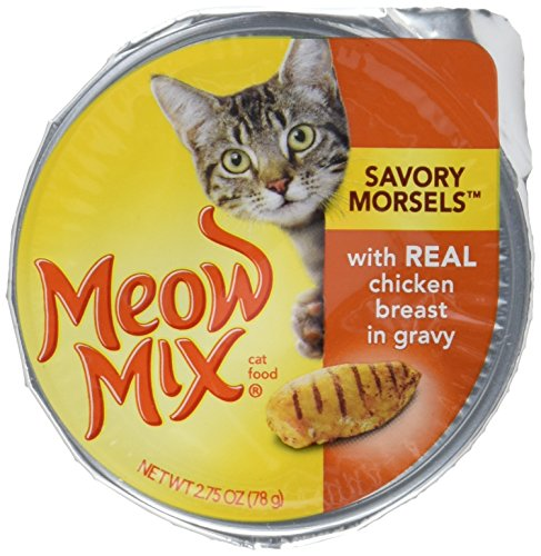 Meow Mix Savory Morsels Wet Cat Food, 2.75 Ounce Cups 3