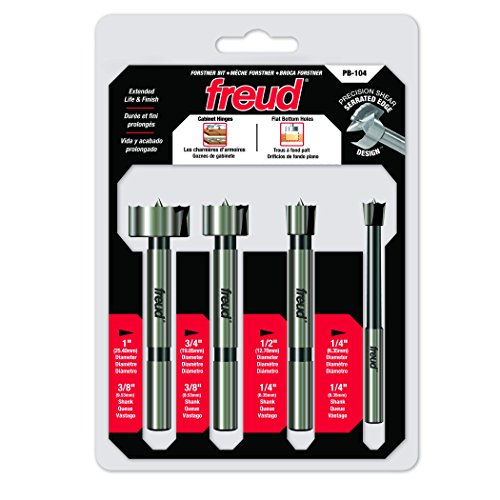 Freud 4 Pcs. Precision Shear Forstner Bit Set (PB-104)
