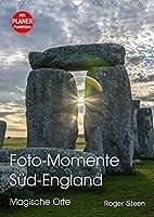 Foto-Momente Sued-England - Magische Orte (Wandkalender 2022 DIN A3 hoch): Eine magische Reise von Stonehenge ueber Glastonbury an die Kueste von Cornwall (Planer, 14 Seiten )