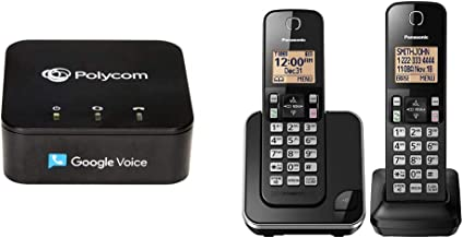 $89 » Obihai OBi200 1-Port VoIP Adapter with Google Voice and Fax, Black & Panasonic Expandable Cordless Phone System with Amber...