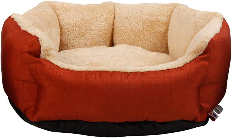 Red Pet Nest Four Seasons General Small and Medium Detachable Washable Cat Kennel Villa Warm Mat 51cm45cm18cm MUMUJIN
