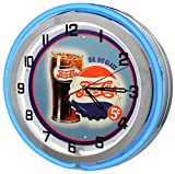 Redeye Laserworks Vintage Pepsi-Cola 18' Blue Double Neon Clock from