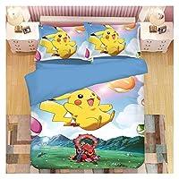 漫画かわいいペット寝具ハンコットンデジタル技術プリント1.2m / 1.5m / 1.8mペットエルフ (Color : Pokemon 4, Size : UK(260*220))