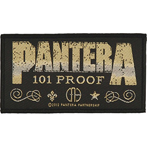PANTERA Whiskey Label Unisex Patch Standard 100% Polyester Undefiniert Band-Merch, Bands
