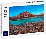 DGJL Rompecabezas de naturaleza volcánica en el Parque Nacional Timanfaya cerca de la costa del mar en Lanzarote, Islas Canarias, España 1000 Piezas