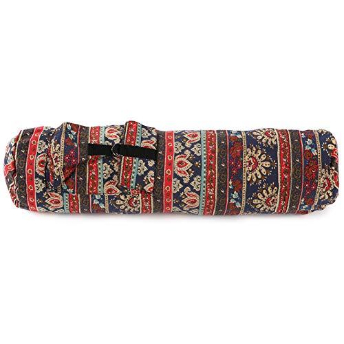 Shipenophy Resistente al desgaste Fintess Bag Yoga Mat Carrier para deportes para fitness (rojo del sudeste asiático)