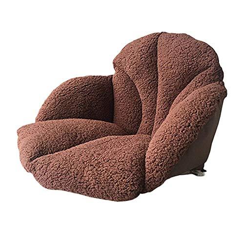 Tatami mat warm gevoerde gordelkussen, bureaustoel erker kussen, rug ischias verlicht volwassenen en kinderen,Brown