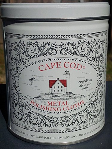 Cape Cod Metal Polishing Cloths Tin Can Gloves Silver Gold Brass Copper Pewter