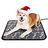 ZHIQII Pet Heating Pad Dog Bed Mats Cat Bed Heated Pad Anti Chew Cord with Variable Heat Control Heated Pet Pad for Cat, Dog,Newborn Pups and Kittens (45 * 45 CM)