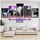 lienzo cuadros decoración de la sala animales elefantes pinturas de paisajes impresiones HD planetas abstractos carteles arte de la pared 40x60cmx2 40x80cmx2 40x100cmx1 Sin marco Elefante